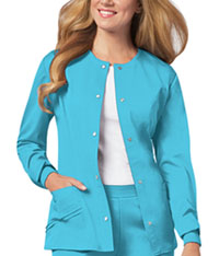 Cherokee Snap Front Warm-Up Jacket Blue Wave (1330-BLUV)
