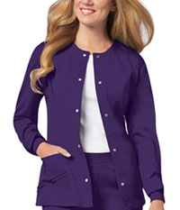Cherokee Snap Front Warm-Up Jacket Nu-Grape (1330-GRPV)