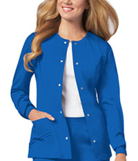 Cherokee Snap Front Warm-Up Jacket Royal (1330-ROYV)