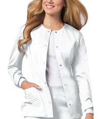 Cherokee Snap Front Jacket White (1330-WHTV)