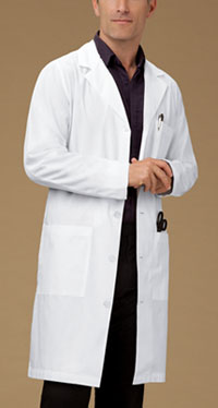 40 Unisex Lab Coat White (1446-WHT)