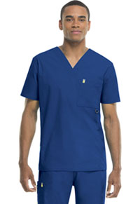 Code Happy Men's V-Neck Top Royal (16600A-RYCH)
