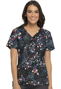 Cherokee V-Neck Knit Panel Top Meadow Breeze (1745C-MEBR)