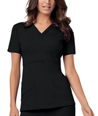 Cherokee Mock Wrap Top Black (1841-BLKV)