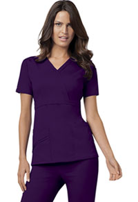 Mock Wrap Top Eggplant (1841-EGGV)