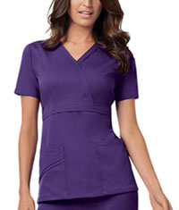 Cherokee Mock Wrap Top Nu-Grape (1841-GRPV)