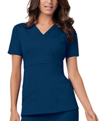 Cherokee Mock Wrap Top Navy (1841-NAVV)