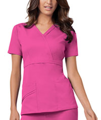 Cherokee Mock Wrap Top Fuchsia Rose (1841-ROSV)