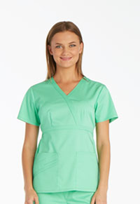 Cherokee Mock Wrap Top Spectra Green (1841-SPCT)