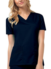 Cherokee V-Neck Top Navy (1845-NAVV)