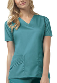 Cherokee V-Neck Top Teal (1845-TEAV)