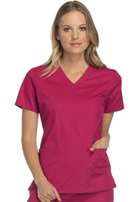 Cherokee V-Neck Top Up-Beet (1845-UPBT)