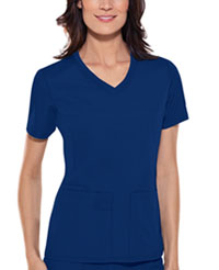 Cherokee V-Neck Knit Panel Top Galaxy Blue (1909-GABB)
