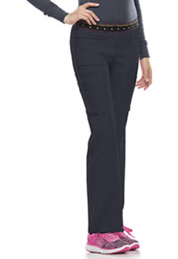 HeartSoul BFF Mid Rise Elastic Waist Cargo Pant Pewter (20100-PEWH)