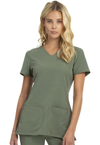 Heartsoul Shaped V-Neck Top Botanical Green (20710-BTGN)