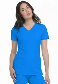 HeartSoul Pitter-Pat Shaped V-Neck Top Blue Bayou (20710-BUBH)
