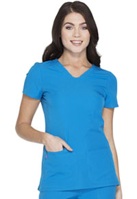 HeartSoul Pitter-Pat Shaped V-Neck Top Blue Crush (20710-BUUH)