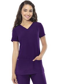 HeartSoul Pitter-Pat Shaped V-Neck Top Eggplant (20710-EGPH)