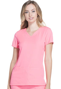 HeartSoul Pitter-Pat Shaped V-Neck Top Flamingo (20710-FLMH)