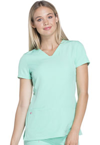 HeartSoul Pitter-Pat Shaped V-Neck Top Frosted Mint (20710-FSTH)