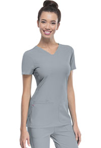 HeartSoul Pitter-Pat Shaped V-Neck Top Grey (20710-GRXH)