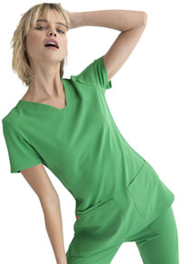 Heartsoul Shaped V-Neck Top Kelly Green (20710-KEGR)