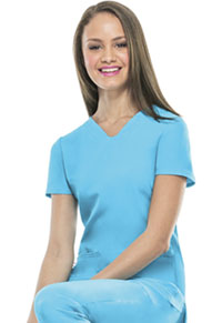 HeartSoul Pitter-Pat Shaped V-Neck Top Turquoise (20710-TURH)