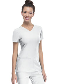 "Break on Through ""Pitter-Pat"" Shaped V-Neck Top (20710-WHIH) (20710-WHIH)"