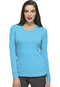 HeartSoul Social Butter-Fly Underscrub Knit Tee Turquoise (20800-TURH)