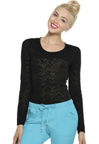 HeartSoul After Your Heart Underscrub Knit Tee After Your Heart Black (20820-HRBK)