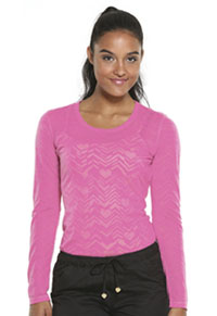 HeartSoul After Your Heart Underscrub Knit Tee After Your Heart Pink Party (20820-HRPP)