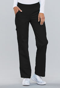 Mid Rise Knit Waist Pull-On Pant (2085-BLKB)