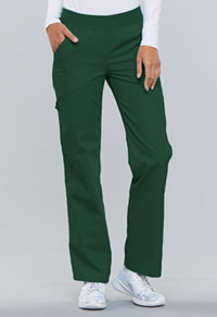 Cherokee Mid Rise Knit Waist Pull-On Pant Hunter Green (2085-HNTB)