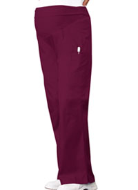Cherokee Maternity Knit Waist Pull-On Pant Wine (2092-WNEB)