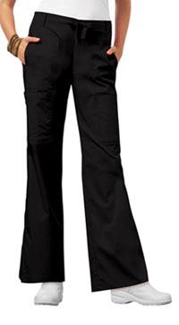 Low Rise Flare Leg Drawstring Cargo Pant (21100P-BLKV)