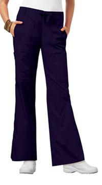 Low Rise Flare Leg Drawstring Cargo Pant (21100P-GRPV)