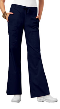 Low Rise Flare Leg Drawstring Cargo Pant (21100P-NAVV)