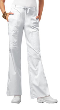Low Rise Flare Leg Drawstring Cargo Pant (21100P-WHTV)