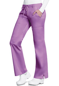 Cherokee Low Rise Flare Leg Drawstring Cargo Pant Berry Bodacious (21100-BBOD)