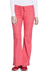 Cherokee Low Rise Flare Leg Drawstring Cargo Pant Fire Coral (21100-FICL)
