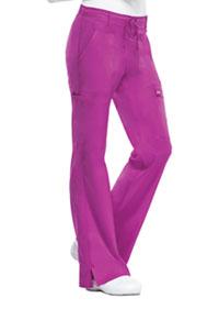 Cherokee Low Rise Flare Leg Drawstring Cargo Pant Pink Violet (21100-PVIV)