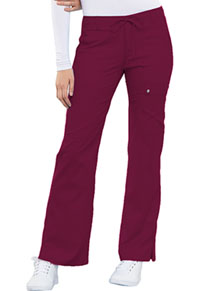 Cherokee Low Rise Flare Leg Drawstring Cargo Pant Wine (21100-WINV)