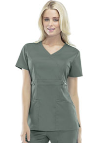 Cherokee Mock Wrap Top Olive (21701-OLIV)