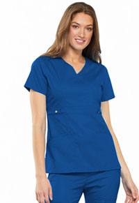 Cherokee Empire Waist Mock Wrap Top Royal (21701-ROYV)