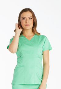 Cherokee Empire Waist Mock Wrap Top Spectra Green (21701-SPCT)