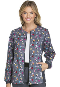 Cherokee Zip Front Knit Panel Warm-Up Jacket Love and Ladybugs (2315C-LOLD)