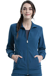 Cherokee Zip Front Warm-Up Jacket Caribbean Blue (2391A-CAPS)