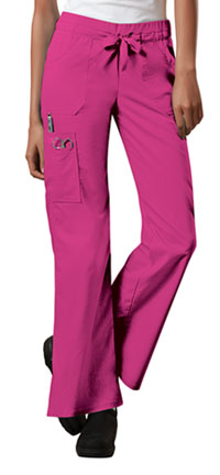 Cherokee Workwear Low Rise Drawstring Cargo Pant Shocking Pink (24001-SHPW)