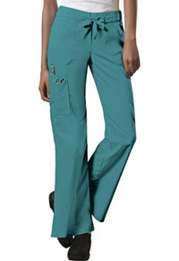Cherokee Workwear Low Rise Drawstring Cargo Pant Teal Blue (24001-TLBW)