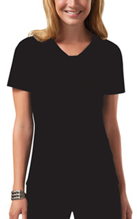 Cherokee Workwear V-Neck Top Black (24703-BLKW)
